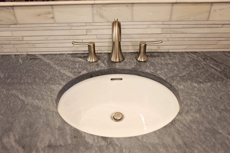 Slate Vanity Top With Undermount Sink Bowl