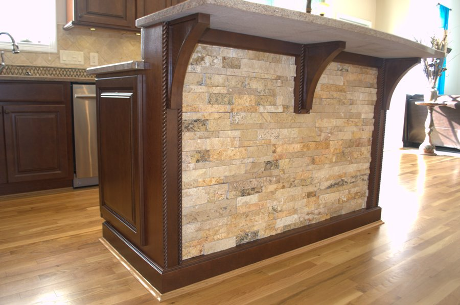 Kitchen island panels awesome panels are designed to interlock for a more natural traditional - Awesome kitchen from stone more cheerful ...