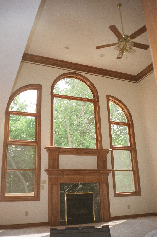 An Awesome Great Room Window & Fireplace Config.