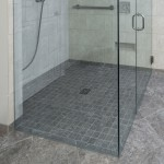 See This No Step Over Shower Curb Design!
