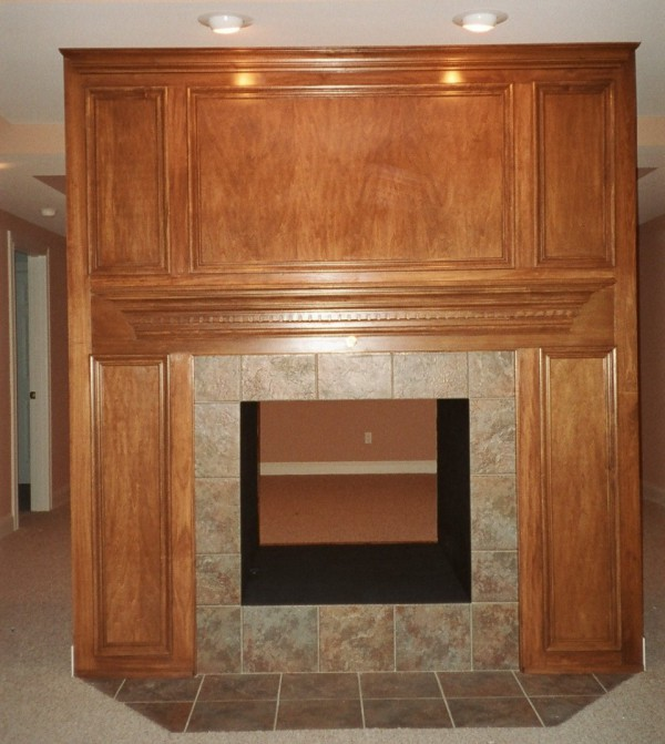 Dark Stained Mantle