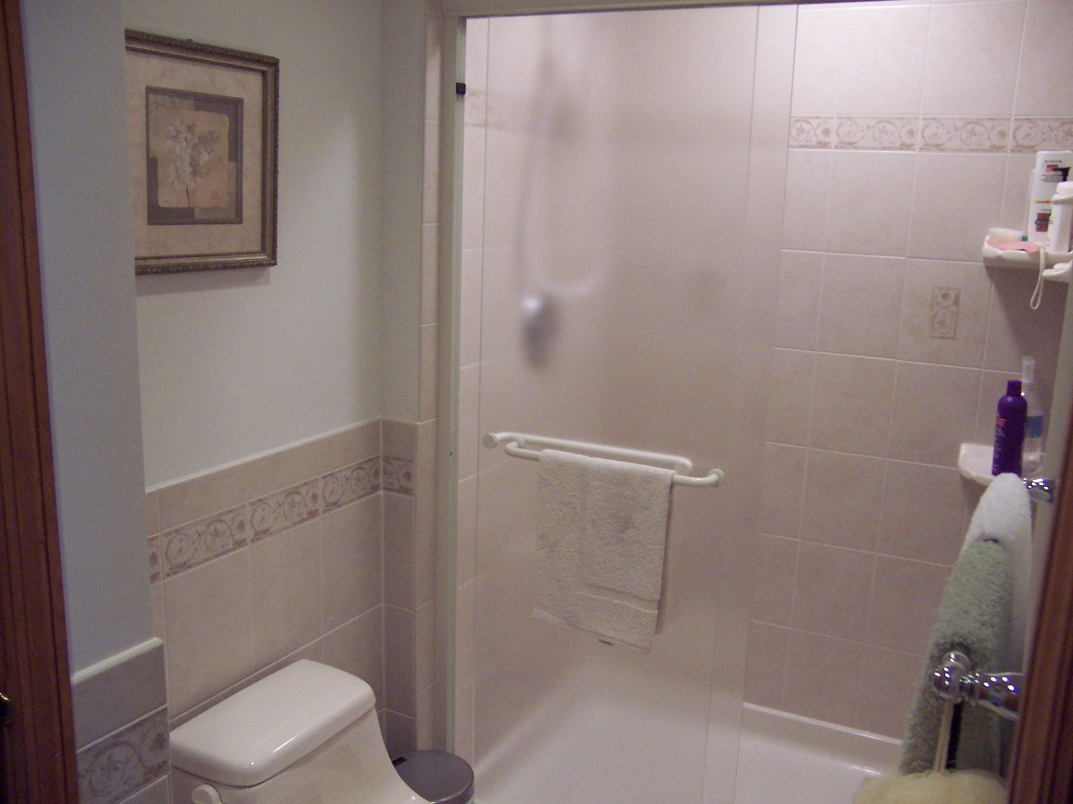 Delhi Township bathroom remodel.